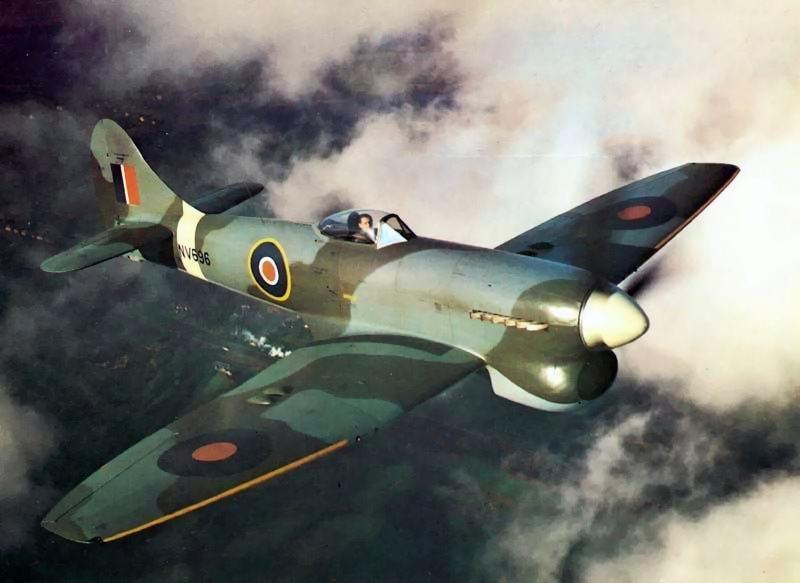 Hawker Tempest V in flight Nov 1944