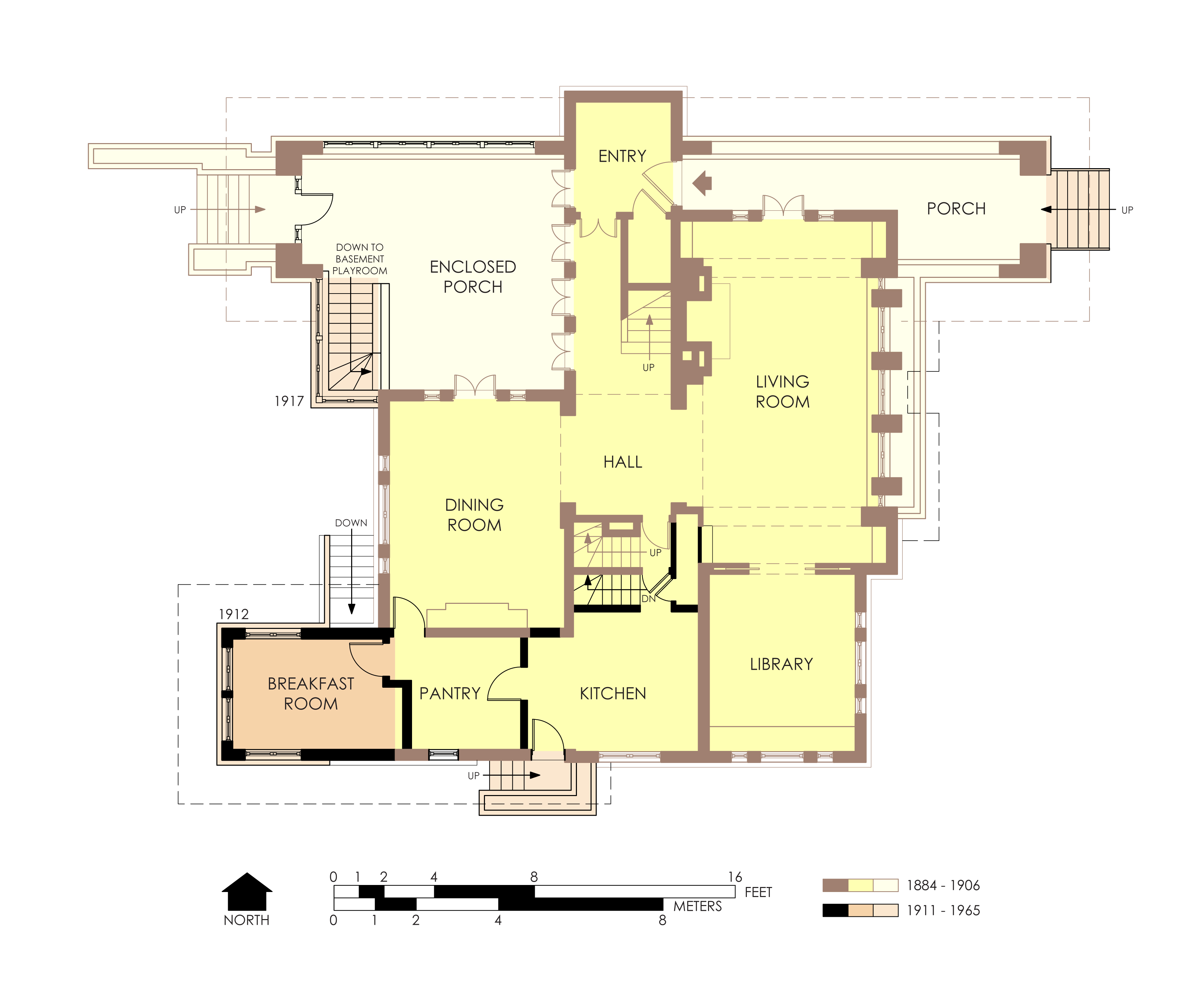 Free home plans frank lloyd wright turkel house floorplans Frank home plans