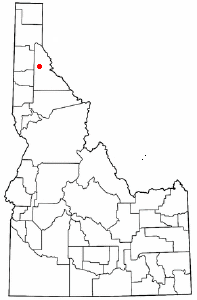 Location of Kellogg, Idaho