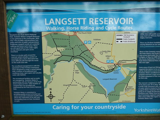 Information board at Langsett - in the Barn car-park - geograph.org.uk - 942738