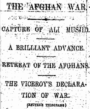 Reuters clipping of Ali Masjid battle