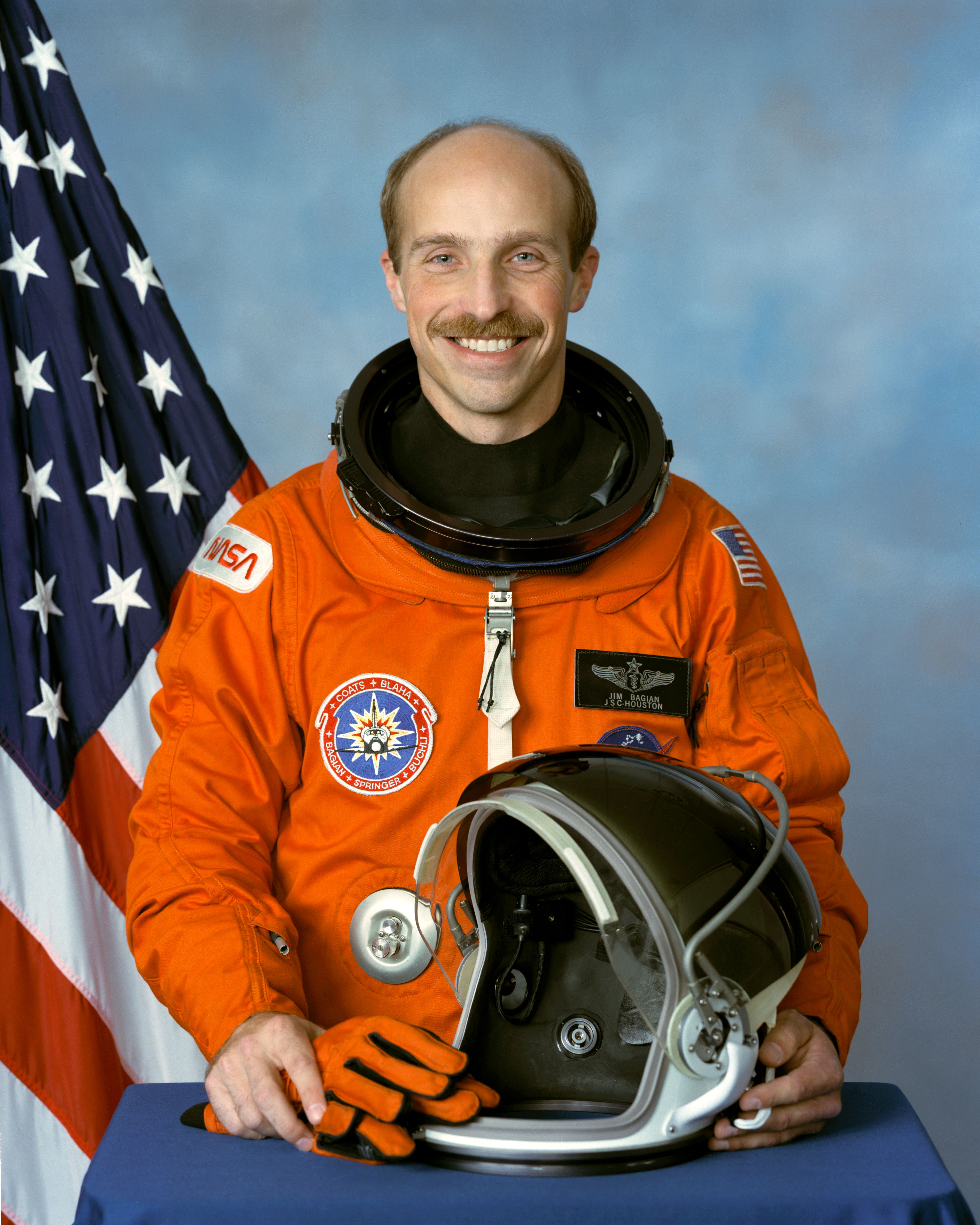 Astronaut Dr. James Bagian, NASA photo Source: Wikipedia (www.jsc.nasa.gov unavailable February 2020) James_Philipp_Bagian.jpg