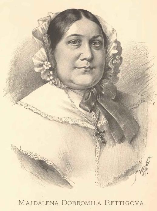 Portrait of Magdalena Dobromila Rettigová by [[Jan Vilímek