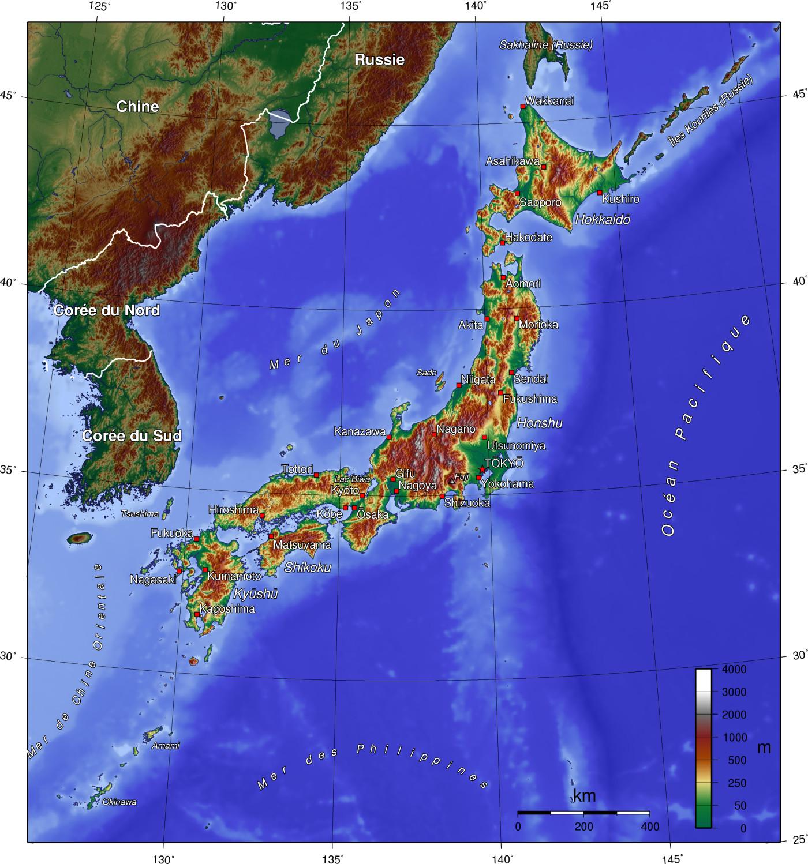 Description japon topo