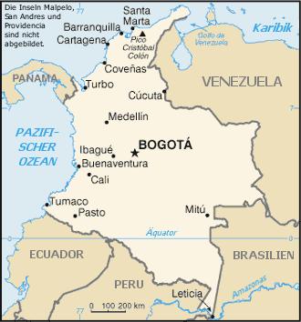 Kolumbien – Reiseführer auf Wikivoyage