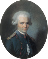 Portrait of Choderlos de Laclos attributed to Alexander Kucharsky