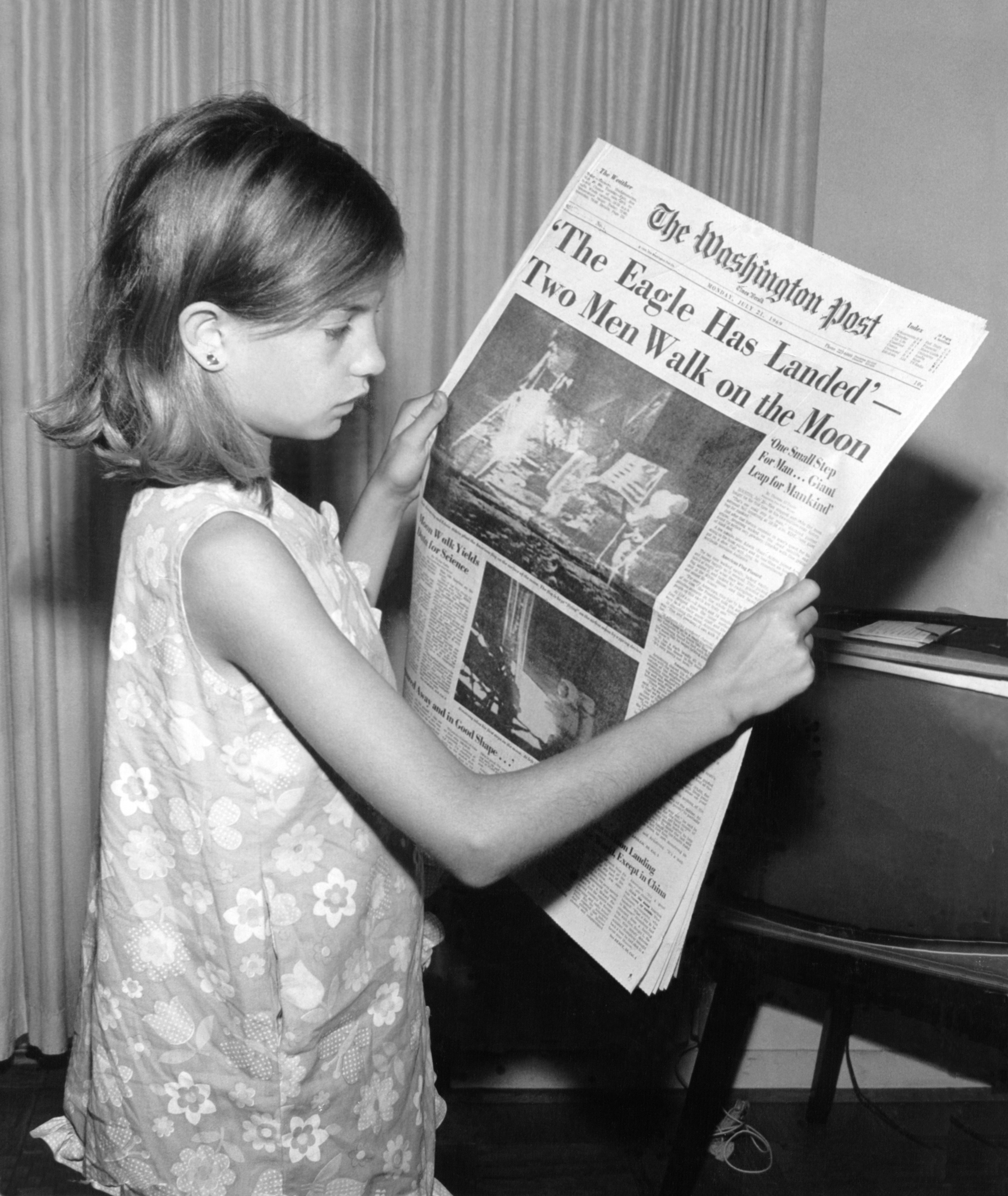 Image result for moon landing newspapers reading