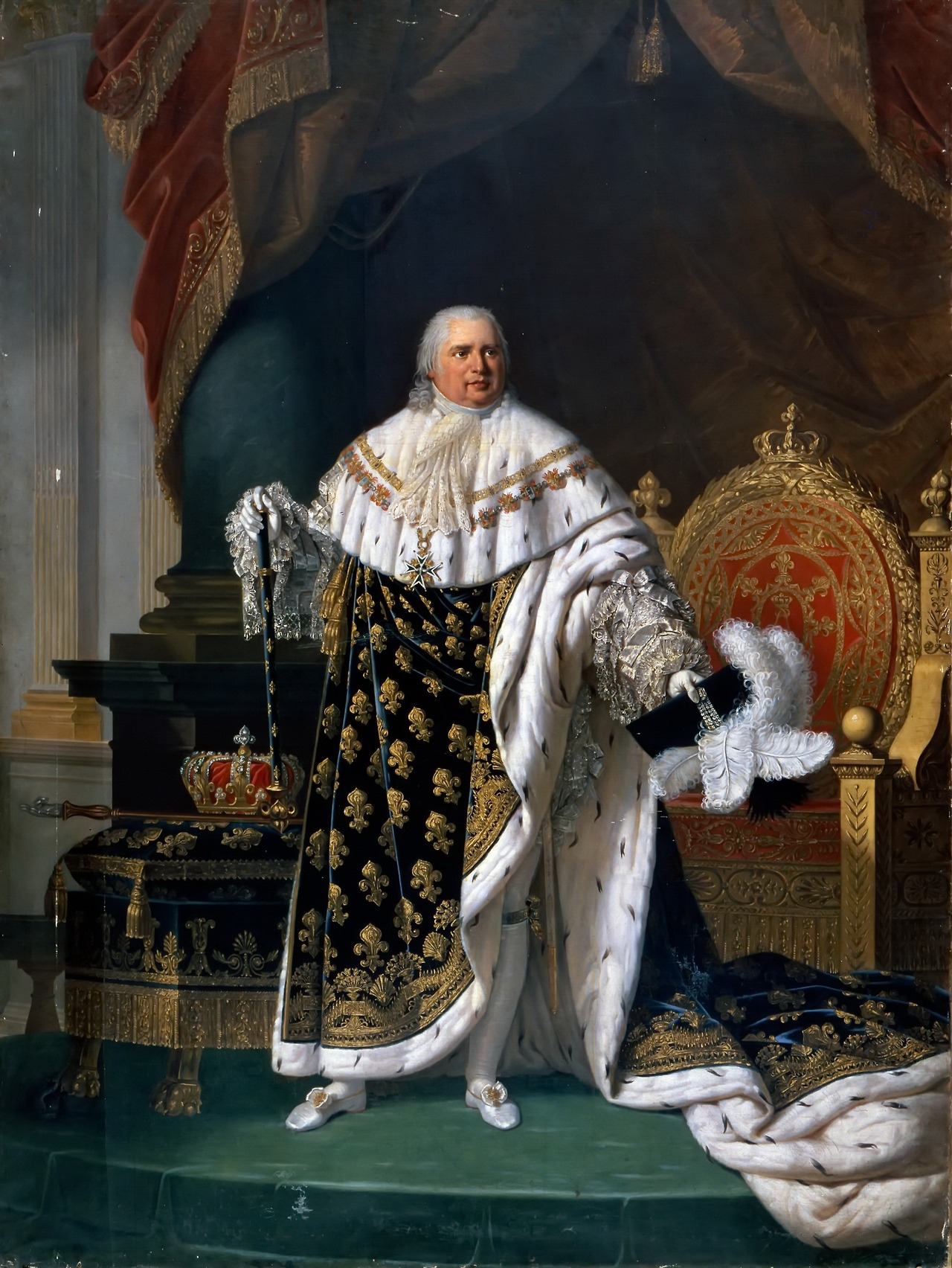 Fichier:Lefèvre - Louis XVIII of France in Coronation Robes.jpg — Wikipédia