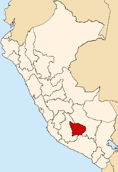 Location of the Apurímac region in Peru