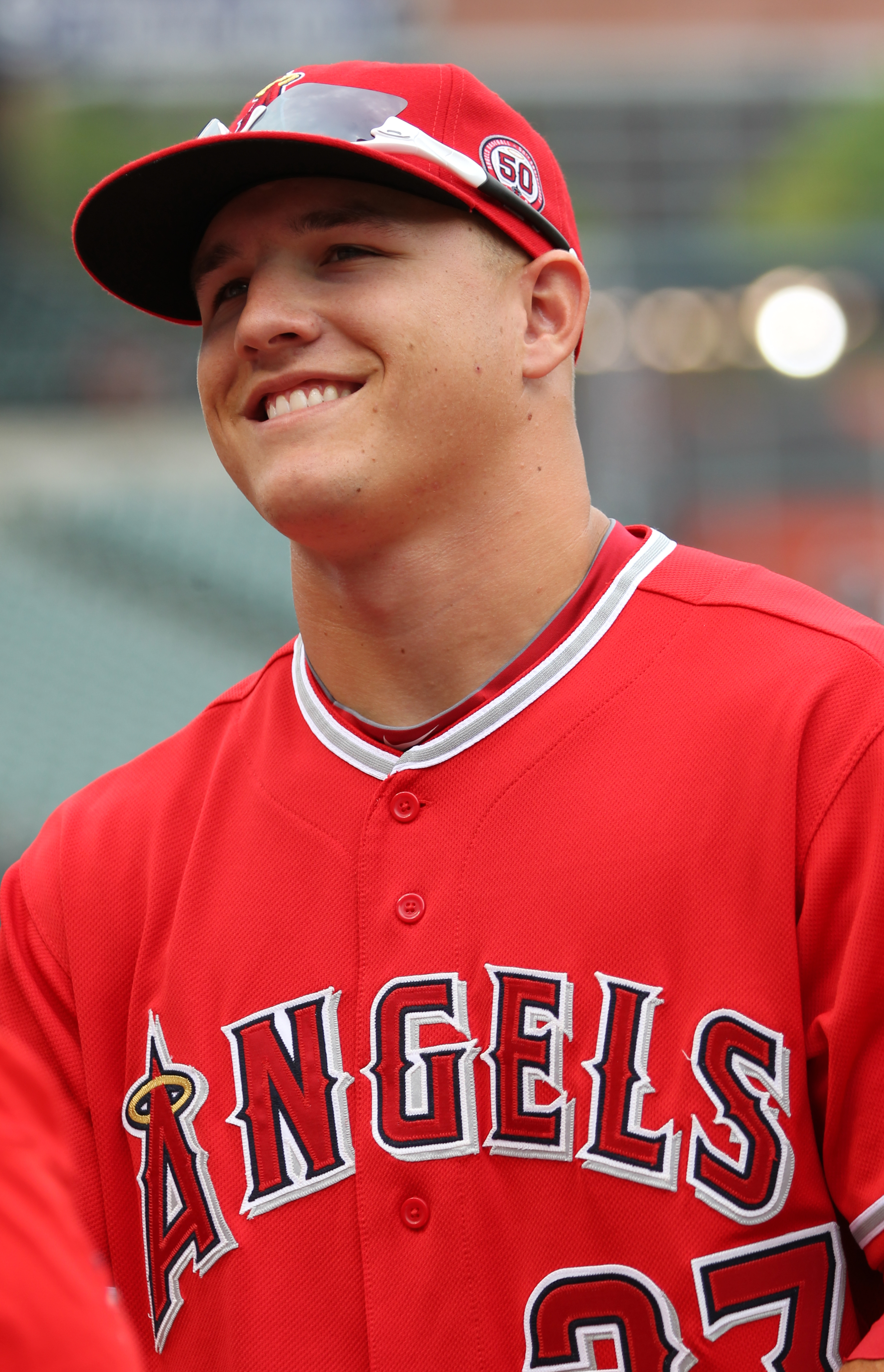 File Los Angeles Angels Center Fielder Mike Trout 27