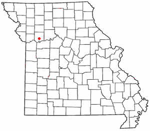Location of Richmond, Missouri