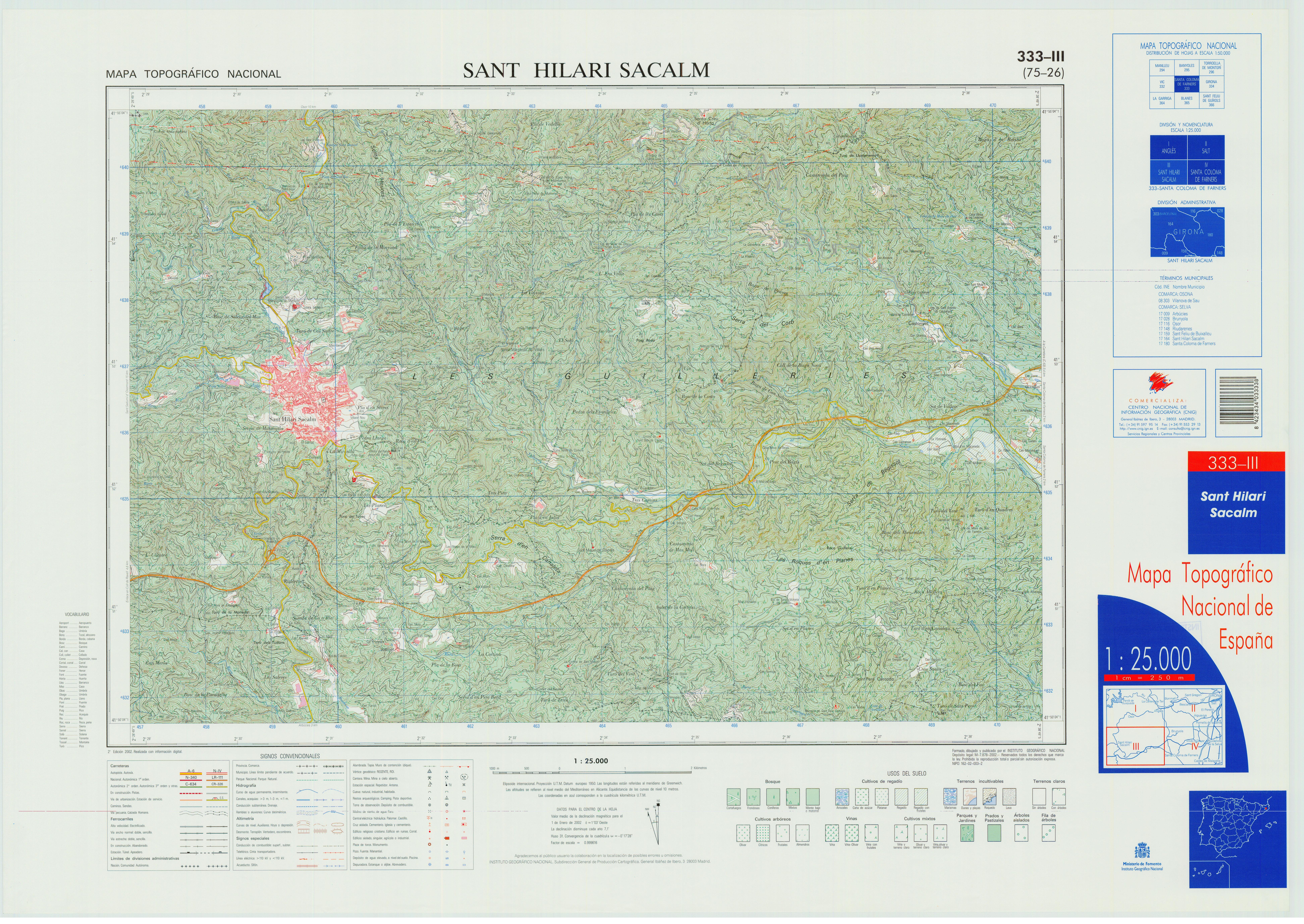 Sant Hilari Sacalm Mapa.File Mtn25 0333c3 2002 Sant Hilari Sacalm Jpg Wikimedia