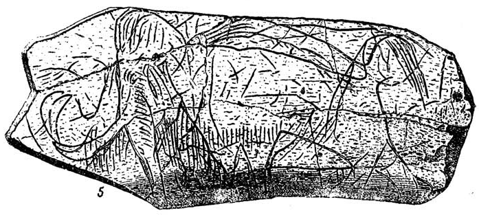 Woolly mammoth cave art