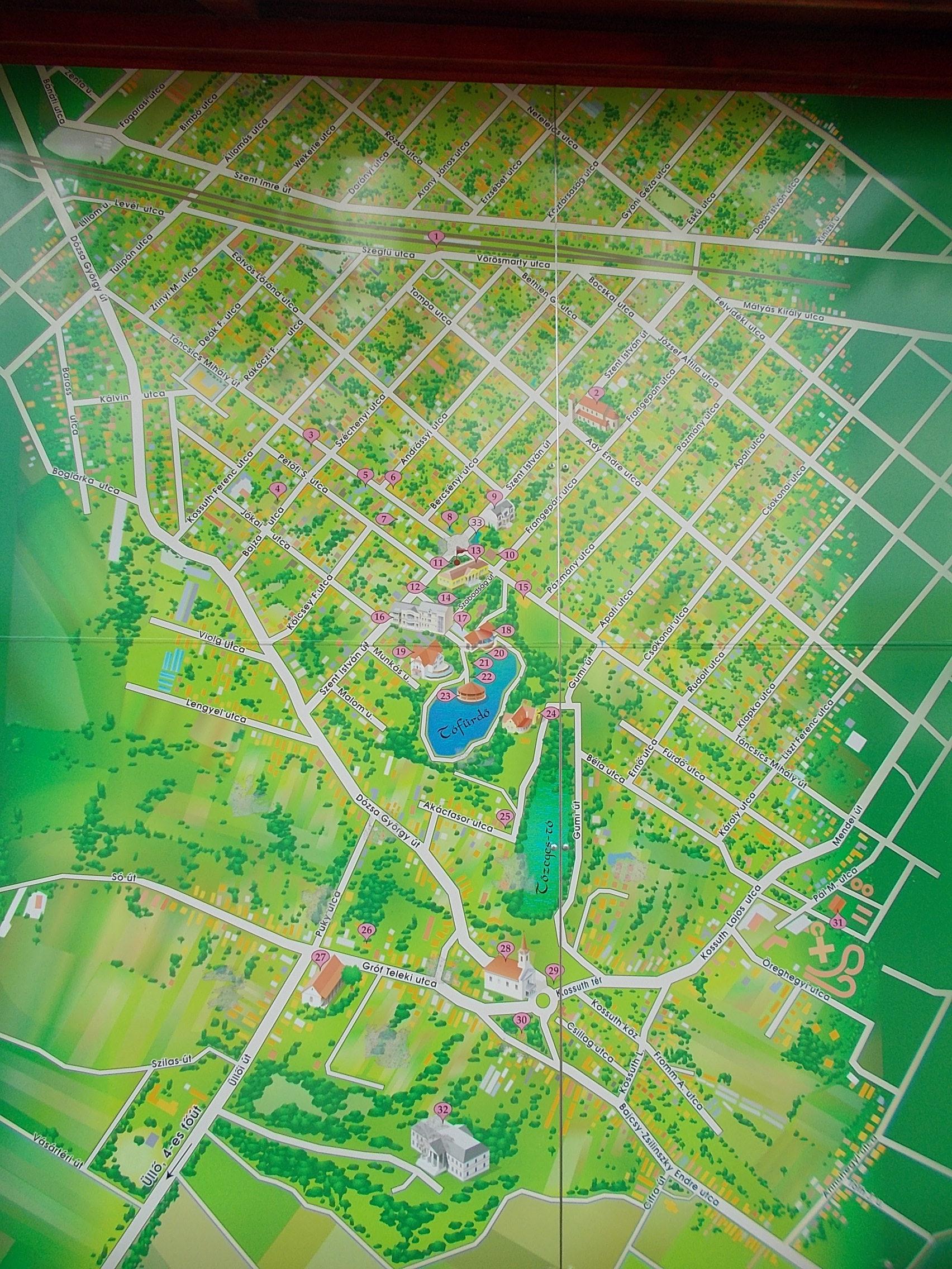 File Map Of Gyomro In The Central Park Gyomro Hungary Jpg