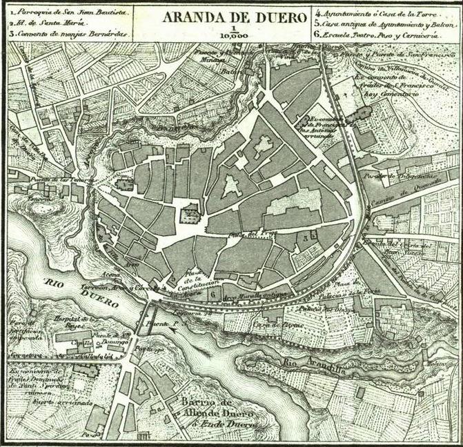Aranda Del Duero Mapa.File Mapa De Aranda De Duero 1868 Por Francisco Coello