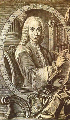 Gregorio Mayans i Siscar. Grabado (s.XVIII)