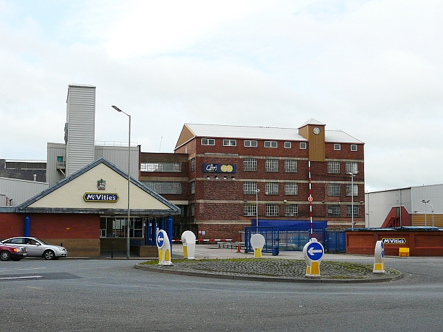 File Mcvities Factory Caldewgate Geograph Org Uk