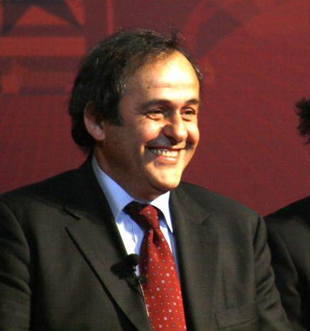 Michel Platini in Moscow