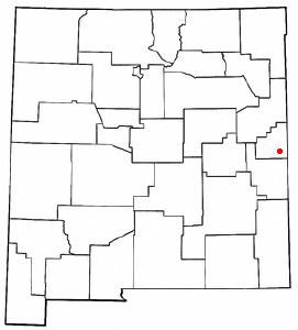 Location of Clovis, New Mexico