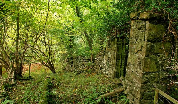 File:Old wall and gate, Glenarm forest - geograph.org.uk