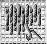 embroidery stitch used in needlepoint and canvas work