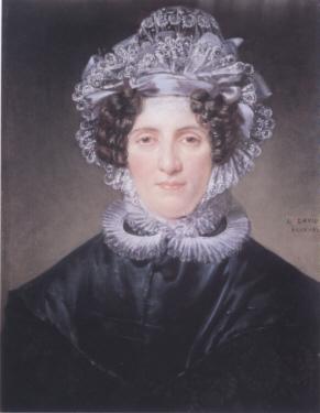 Pauline PANCKOUCKE, wife of Dominique-Vincent RAMEL, by Jacques-Louis DAVID 1820