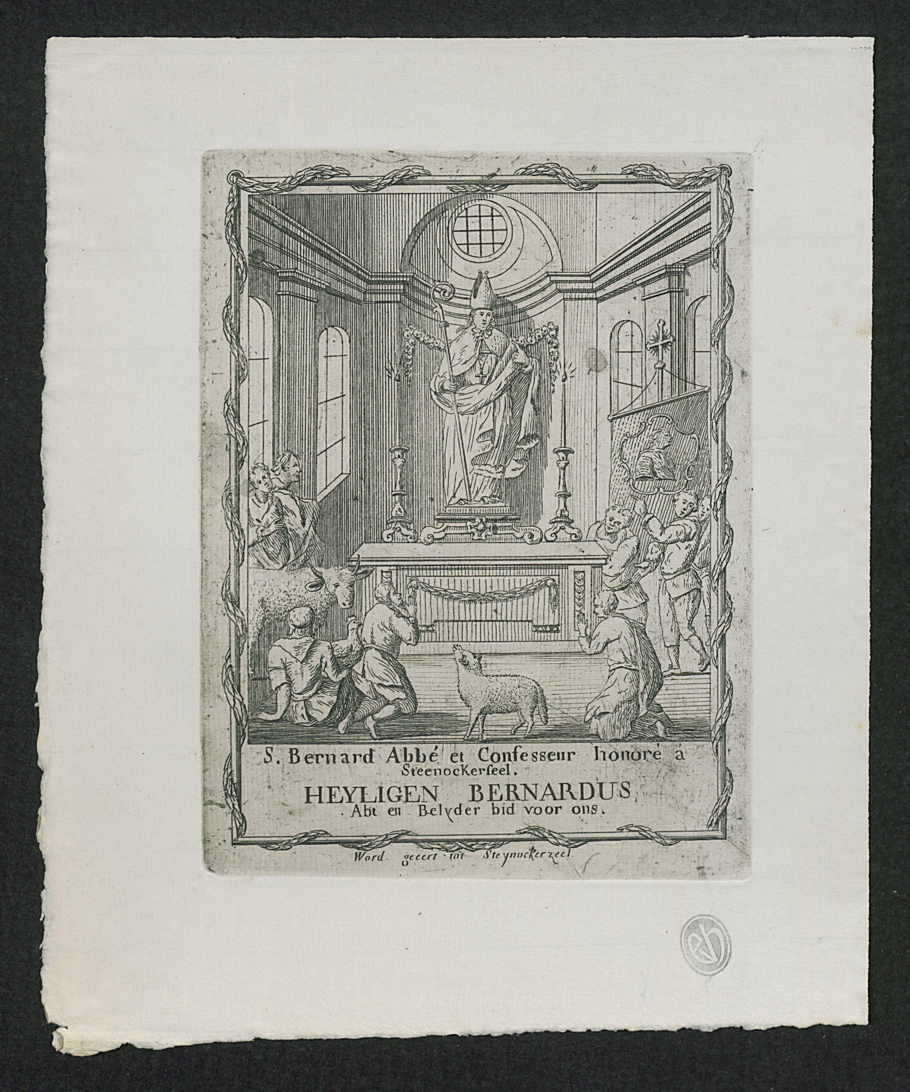 Filepelgrims In Aanbidding Tot Bernardus Van Clairvauxjpg
