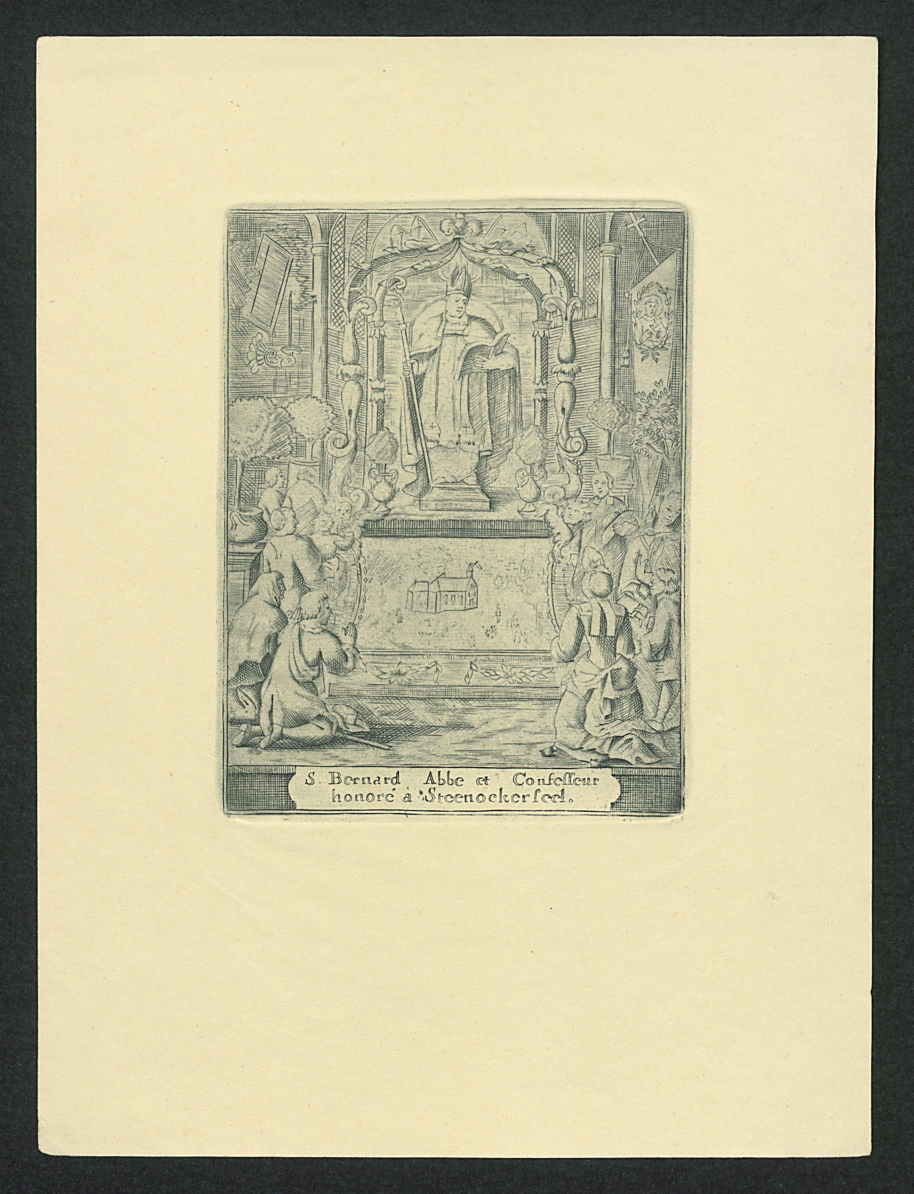Filepelgrims In Aanbidding Tot Bernardus Van Clairvaux Tg