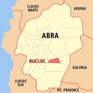 Map of Abra showing the location of Bucloc