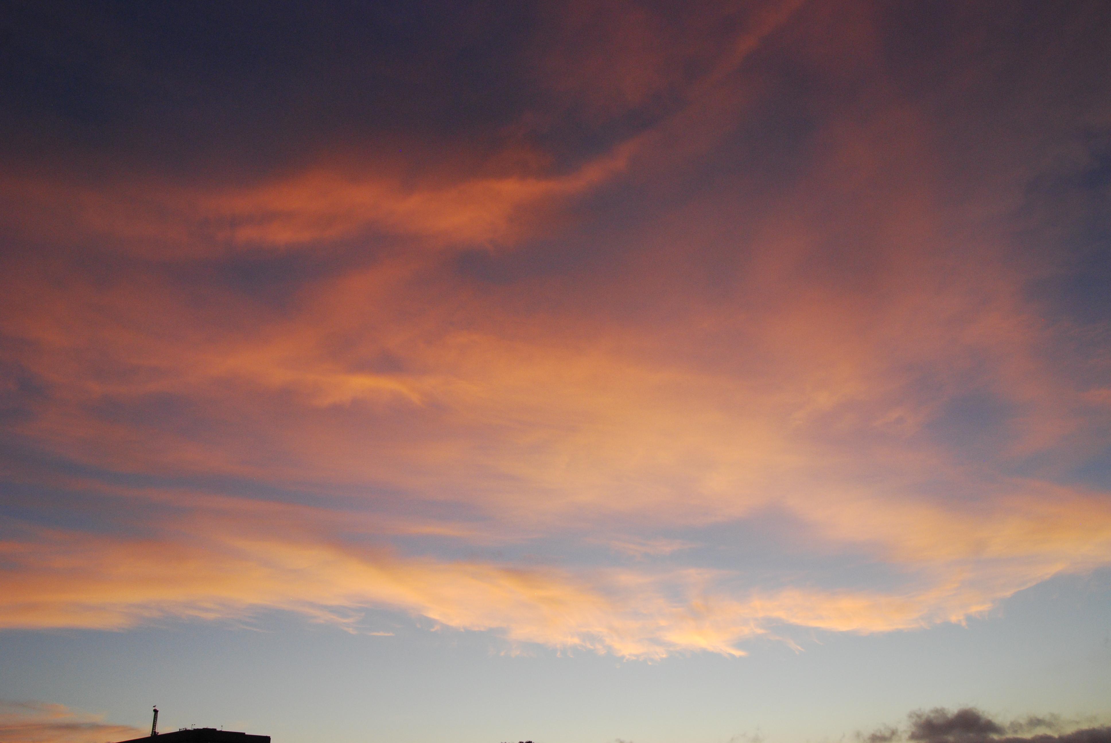 Pink Cloud C Deep Blue Sky C Pale Horizon