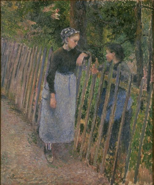 The Conversation by Pissarro