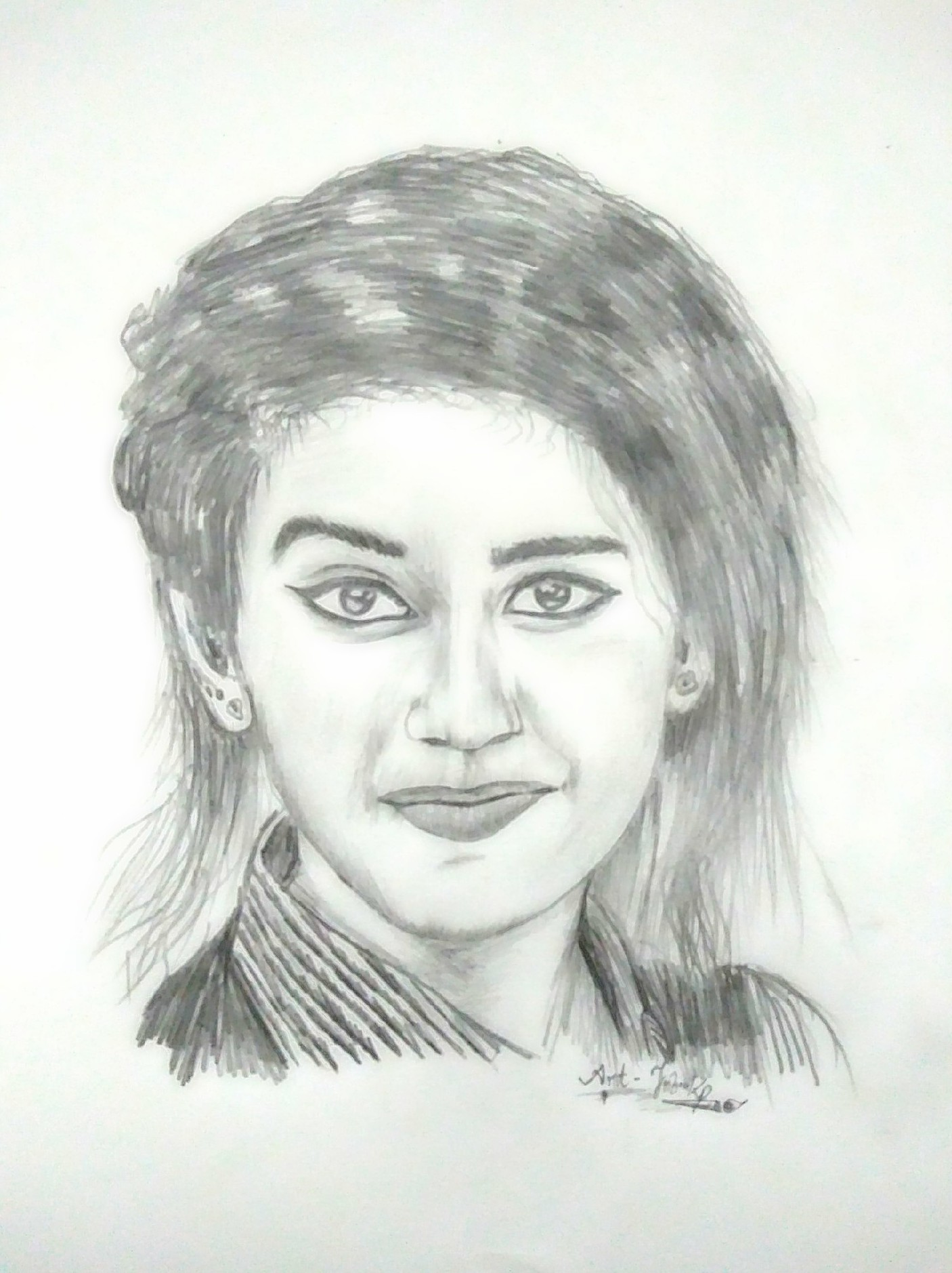 File:Priya prakash varrier's pencil drawing.jpg - Wikimedia Commons