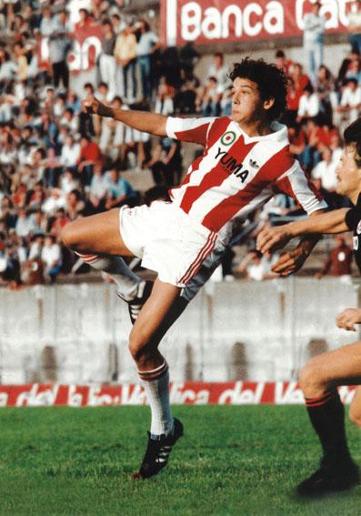Un giovane Roberto Baggio al L.R. Vicenza nella stagione 1982-83