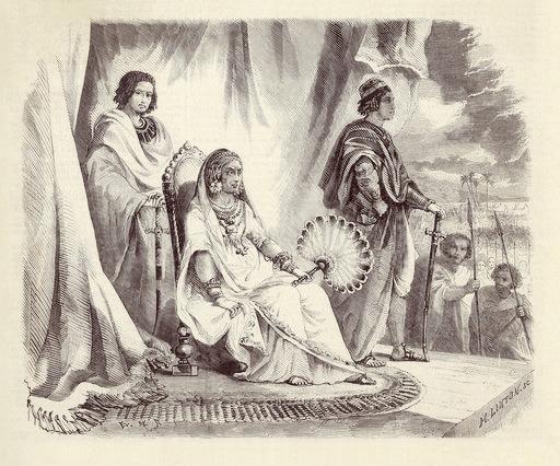 Ranavalo Manjaka, reine de Madagascar, et ses heritiers presomptifs