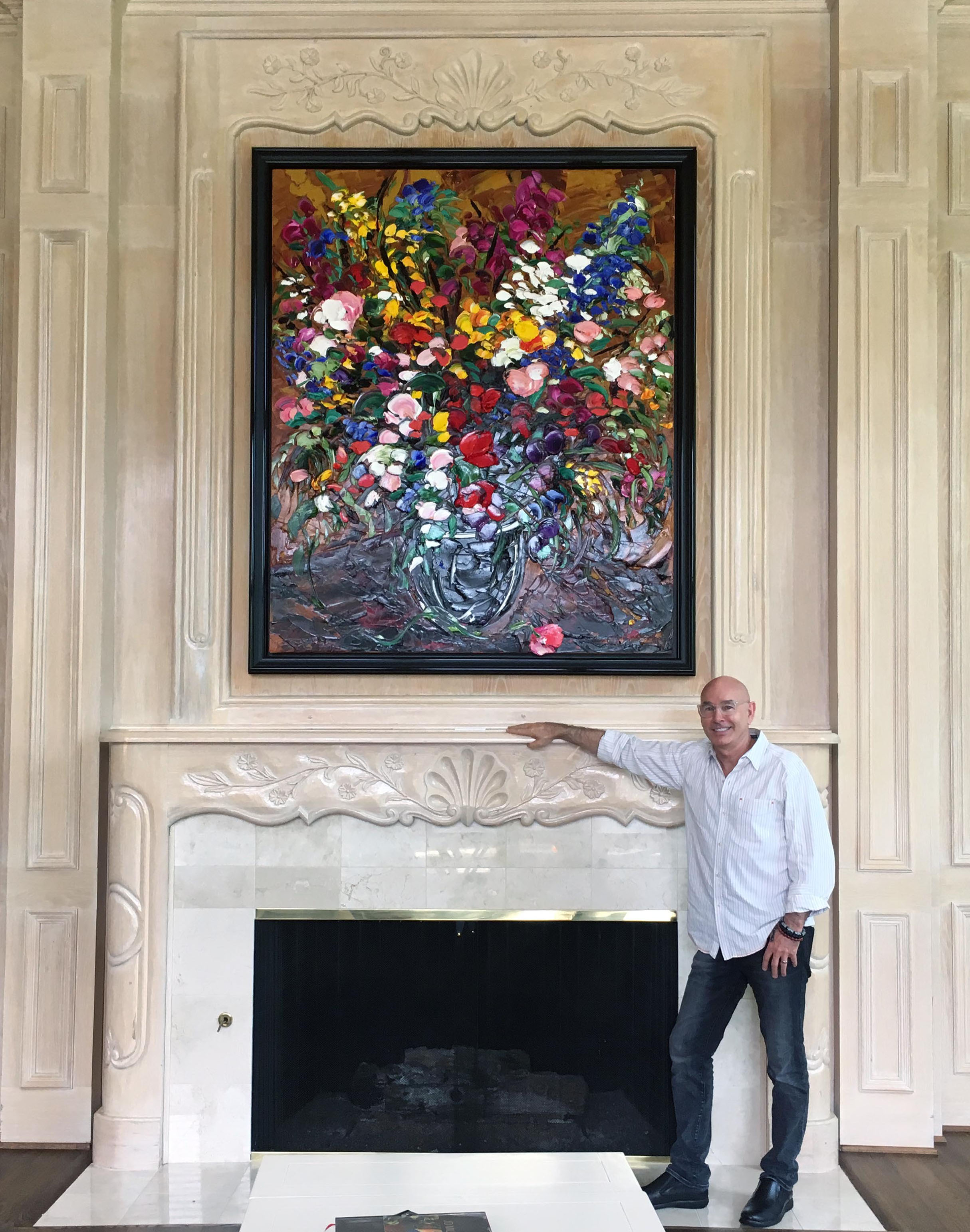 72 x 60 window prefabricated filereflectionist artist jd miller pictured with his 3d oil painting
