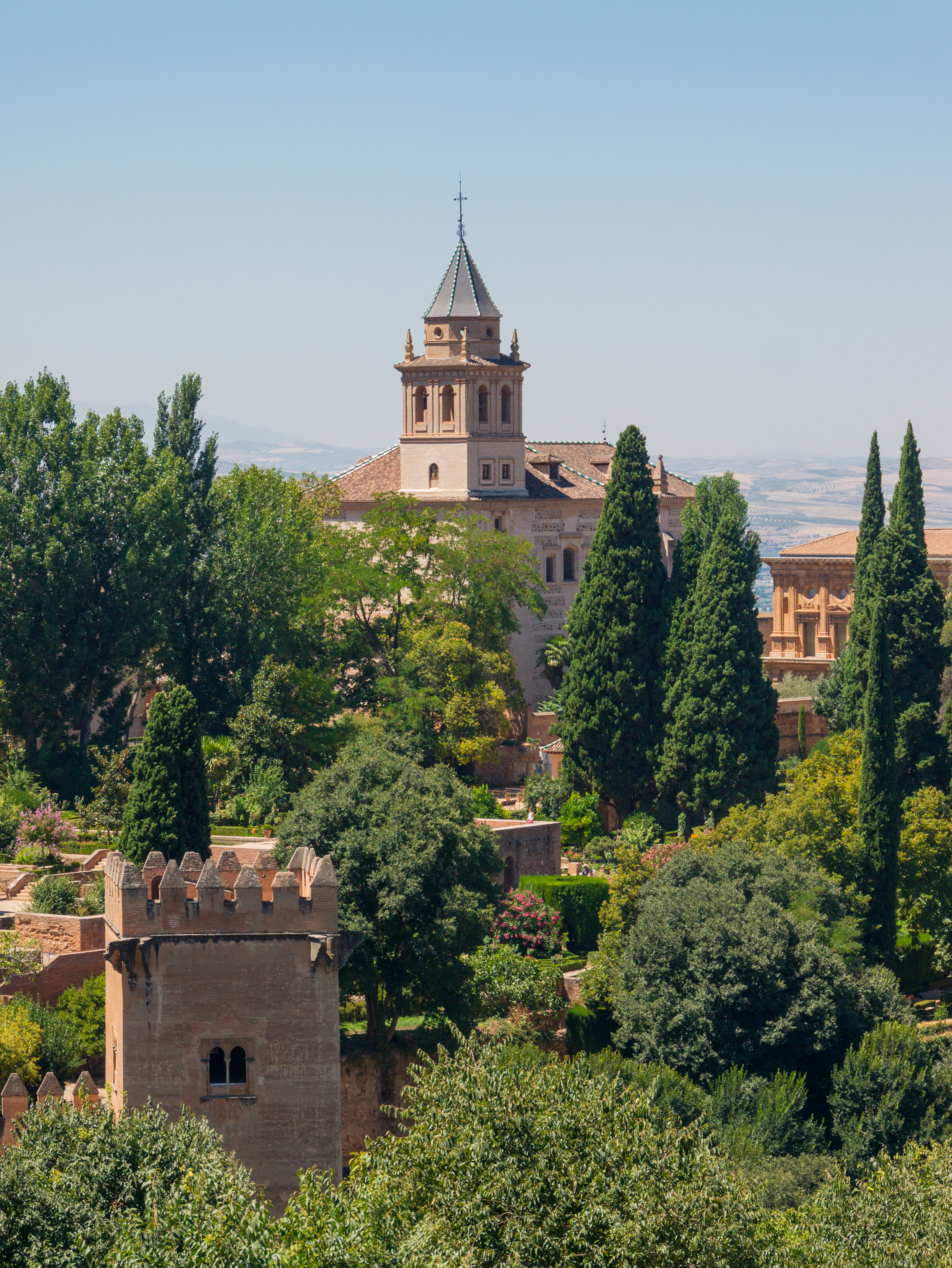 What Is Life 360 >> File:Santa Maria de la Alhambra, tower of the captive lady, from Generalife, Granada, Spain.jpg ...