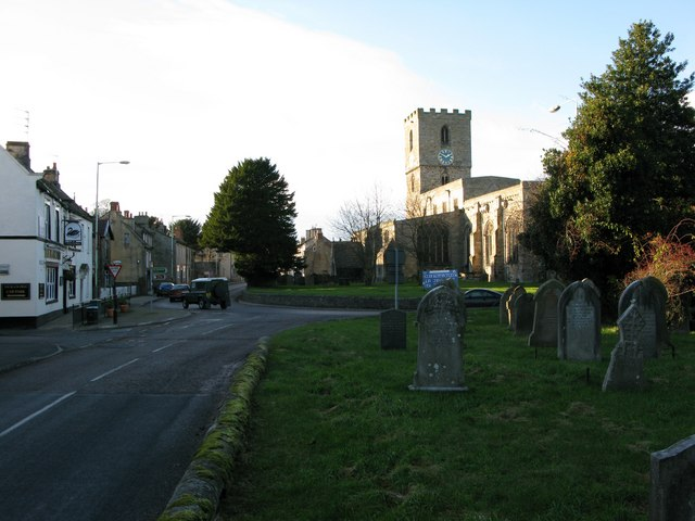 Staindrop Church looking west - geograph.org.uk - 1296503