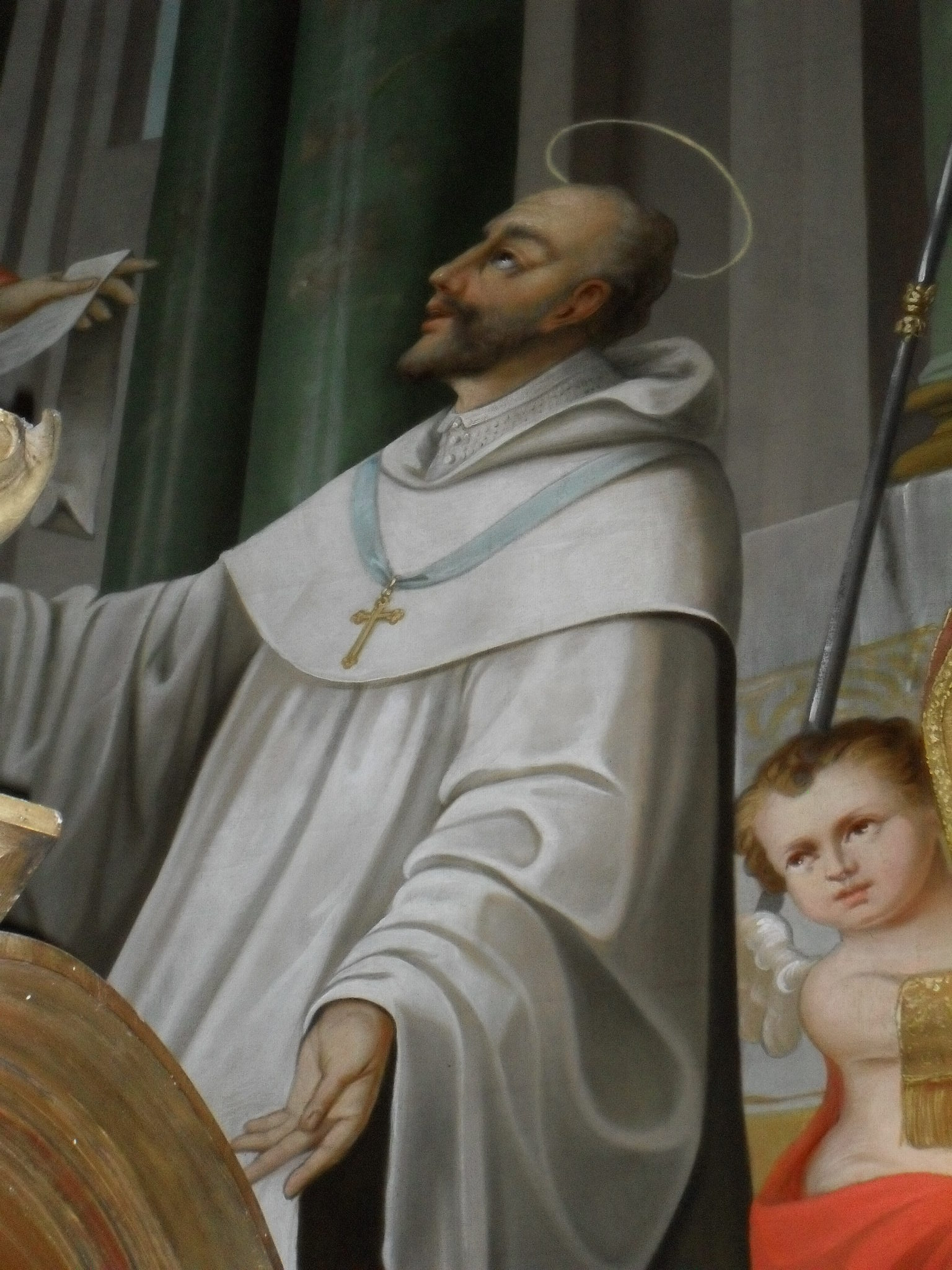 Saint Stephen Harding fresco in [[Apátistvánfalva]], Hungary
