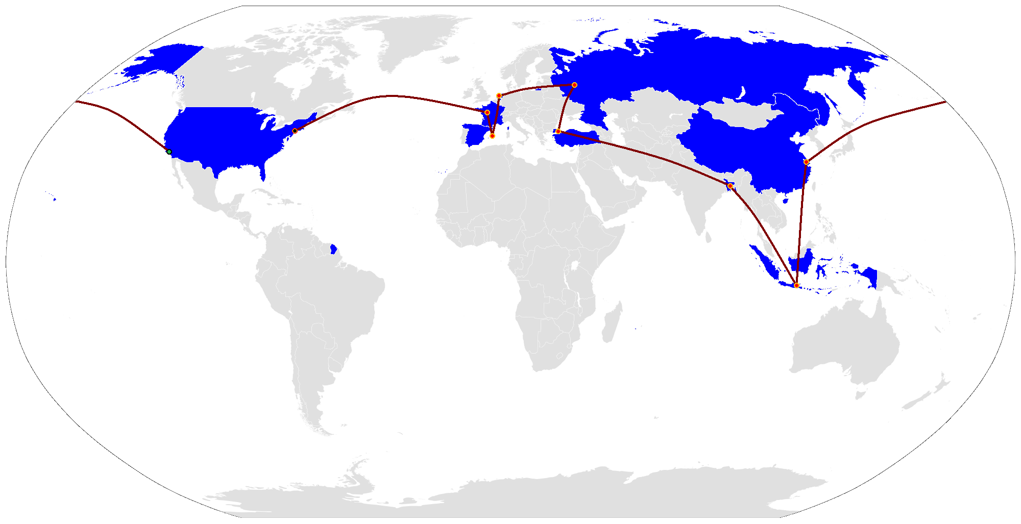 File The Amazing Race 21 Map Png Wikimedia Commons