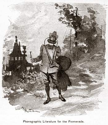 Albert Robida, Phonographic Literature for the Promenade.