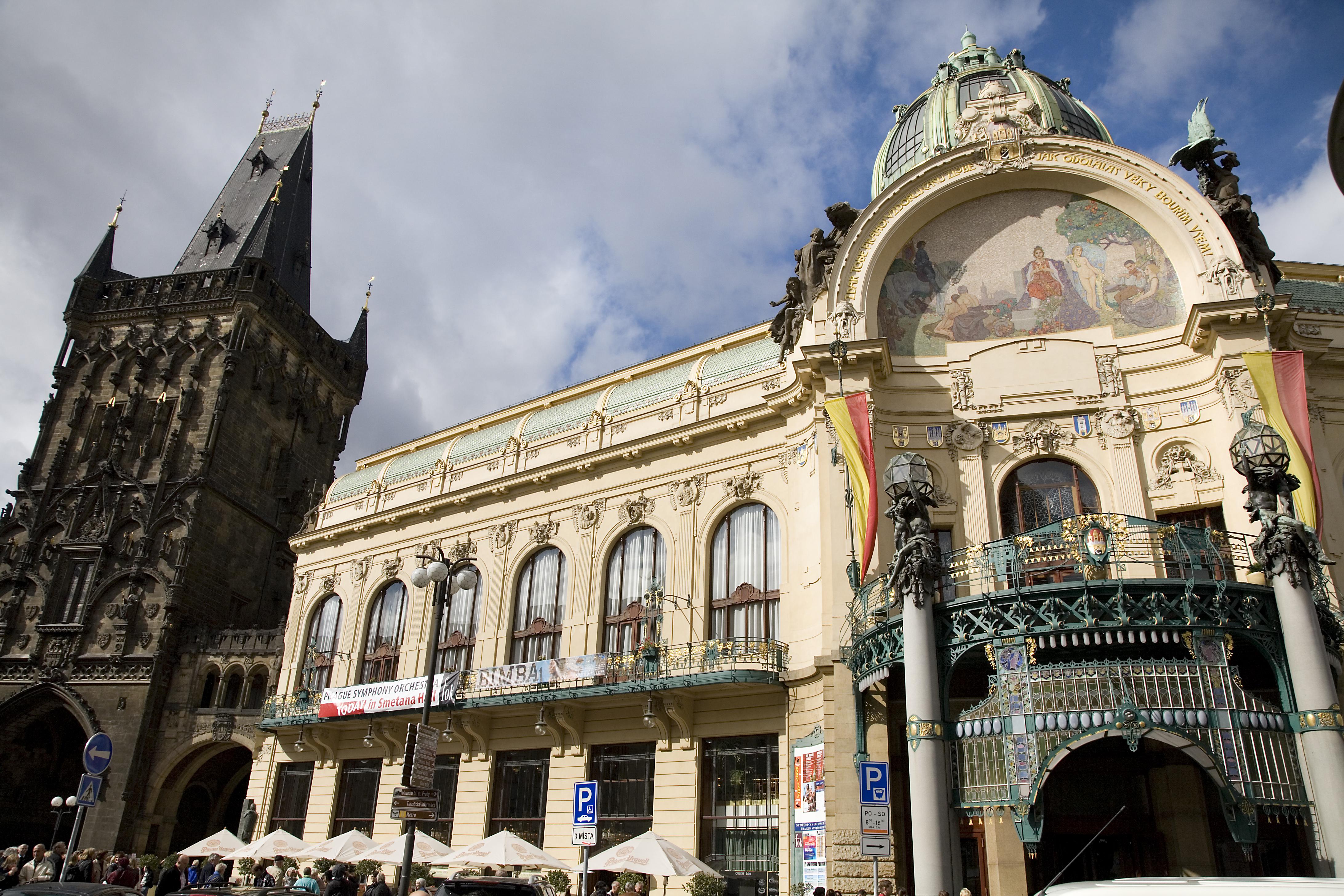 The Municipal House Obecni Dum Prague