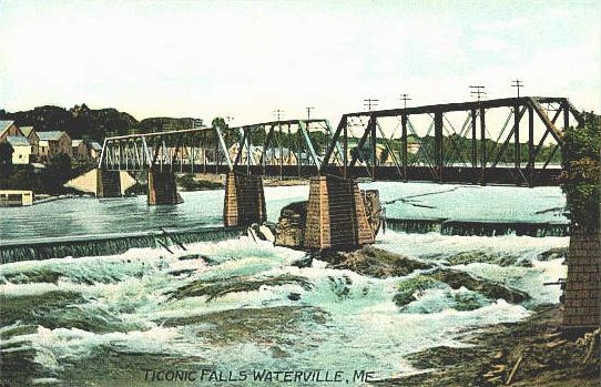 Waterville (ME) United States  city photo : Ticonic Falls, Waterville, ME
