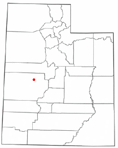 Location of Hinckley, Utah