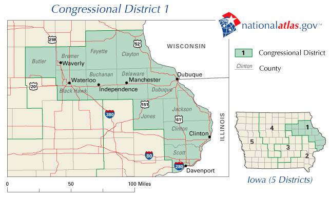 FileUnited States House Of Representatives Iowa District Map - United states map iowa