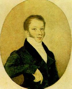 Молодой Одоевский на зарисовке В. Тропинина