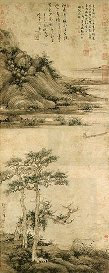 Wu Zhen, Hermit Fisherman on Lake Dongting 14th century (Wikimedia Commons)