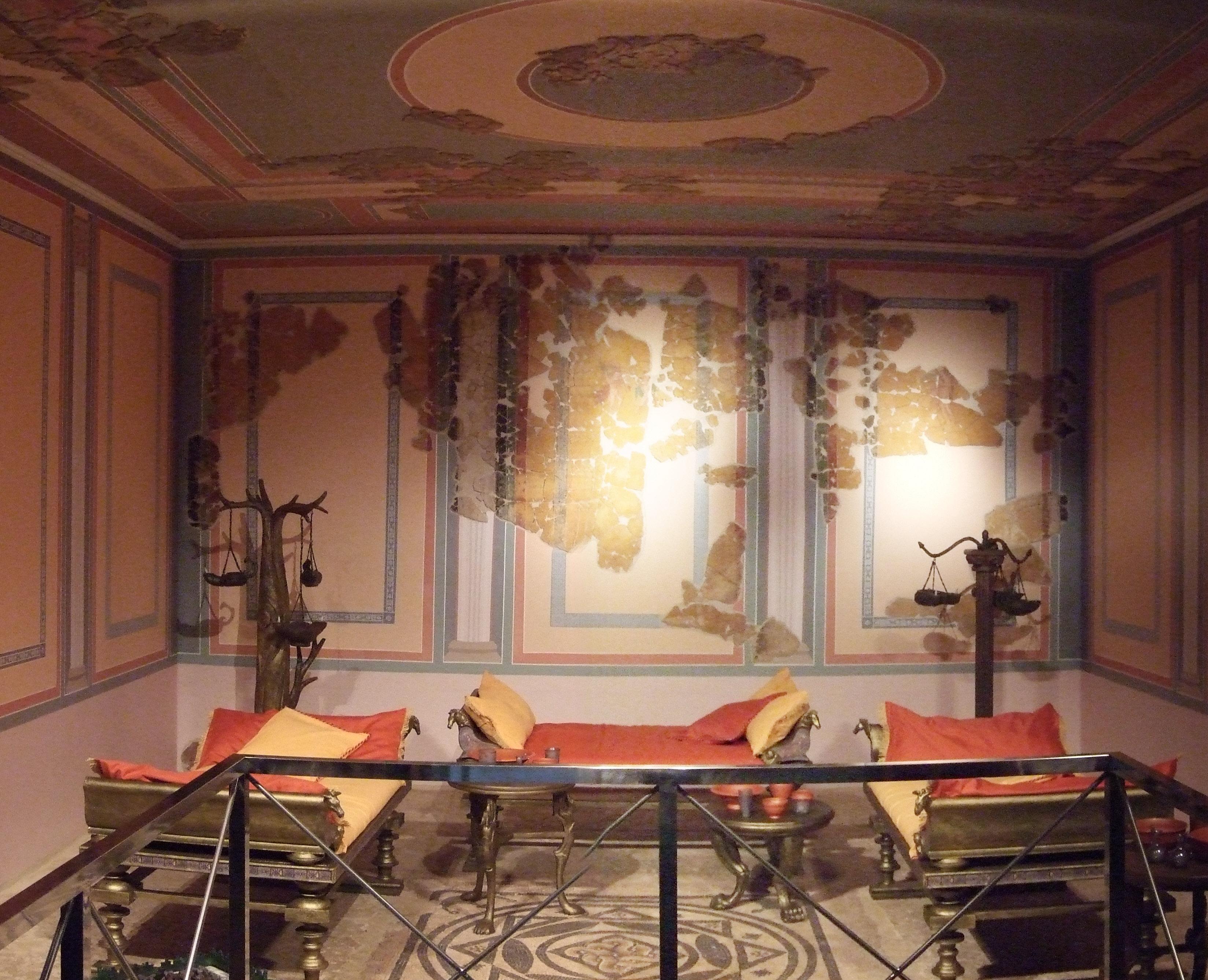 File zaragoza museo triclinio de la calle a n wikimedia commons - La villa romaine antique ...