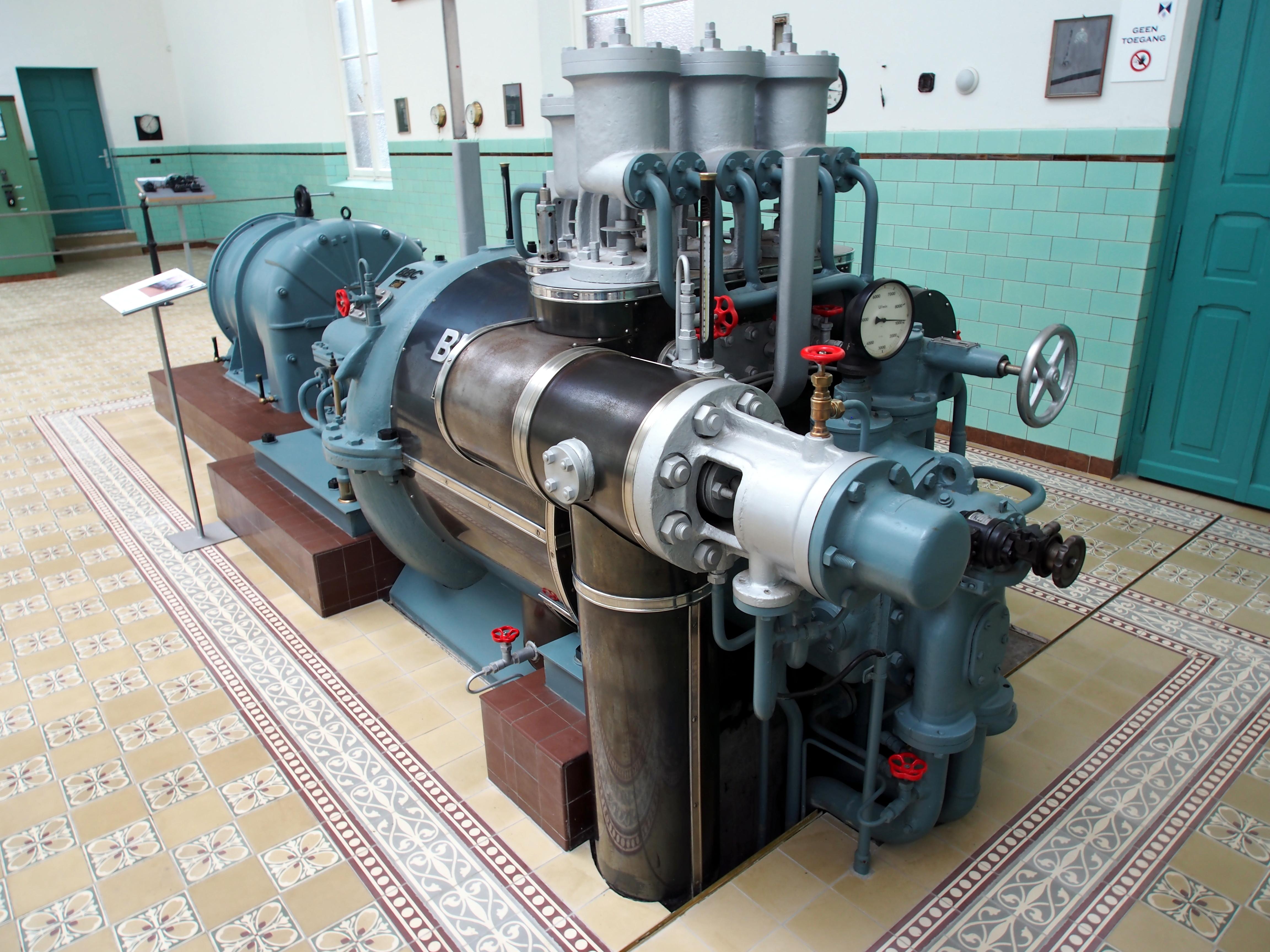 File 1956 Brown Boveri Corporation BBC Mannheim Steam turbine