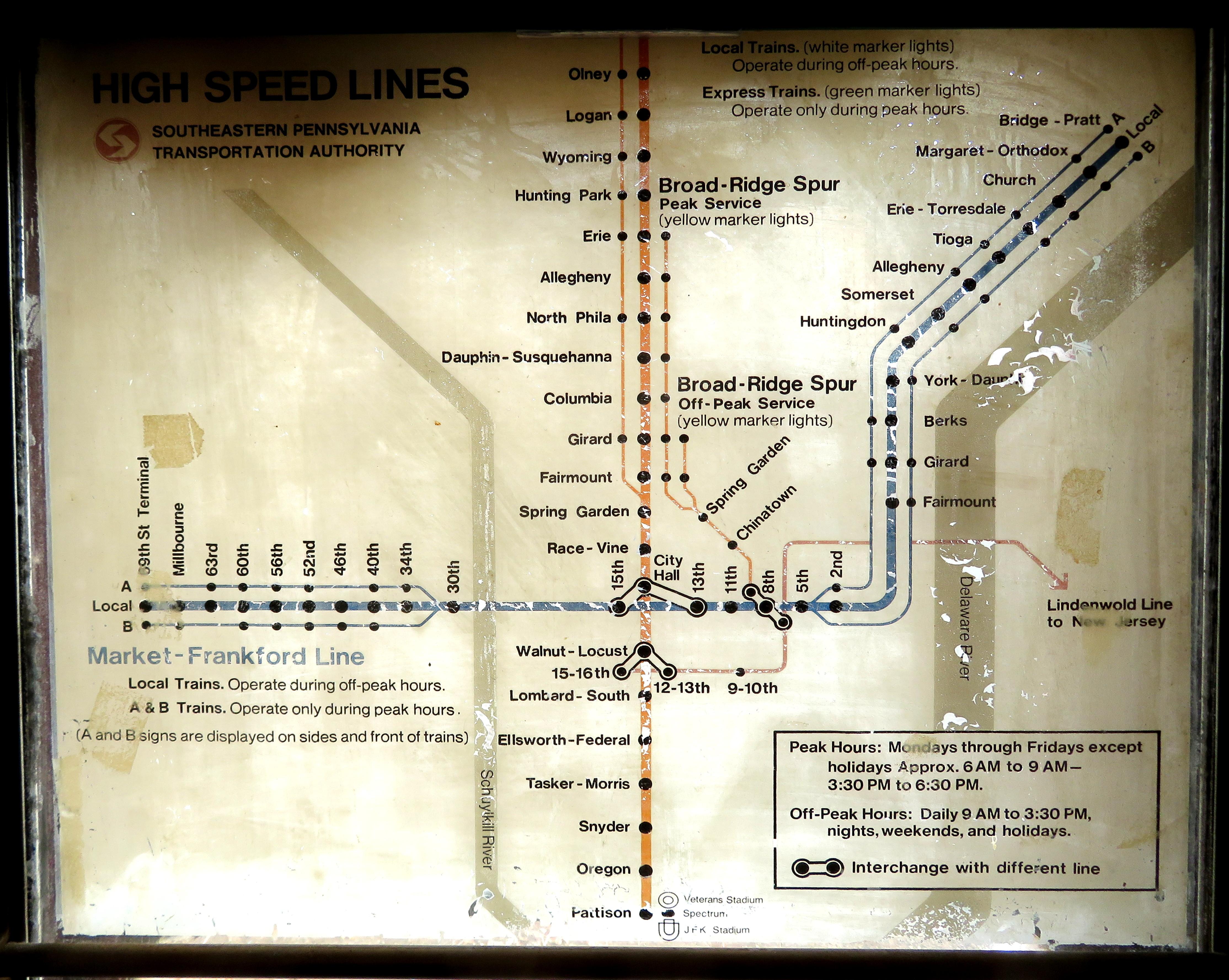 Phila Subway Map.File 1970s Septa Subway Map In Former B 1 Car December 2017 Jpg