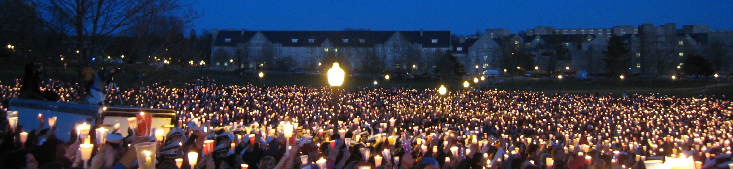 Candle Ligh Vigil For Victims of Virginia Tech Massacre